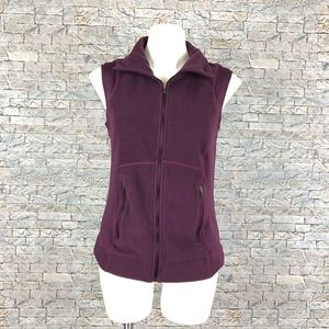 Columbia Purple Zip Up Fleece Vest Medium